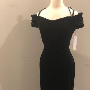 Nicole Miller New York Black Velvet Cocktail Dress